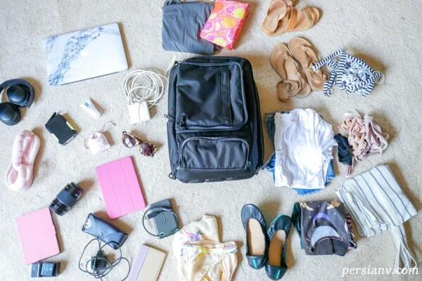 توصیه ها و کلک های بستن چمدان سفر