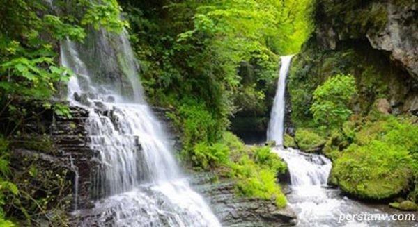 سفر به ممتازترین جاذبه گردشگری شمال ایران/ آبشار زیبای زمرد +تصاویر