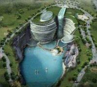 هتل بسیار بزرگ زیرزمین در چین+تصاویر