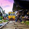 بازار ریلی مائه کلونگ جاذبه ای دیدنی در تایلند+تصاویر