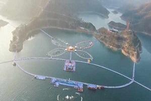 چین و این بار طولانی ترین مسیر شناور روی آب+تصاویر