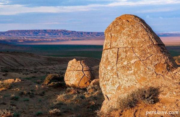 دره ی توپ ها طبیعتی دیدنی در قزاقستان