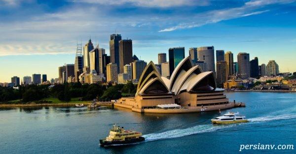 خانه اپرای سیدنی استرالیا از دیدنی های زیبا در این شهر