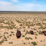 گورستان کشتی های میناق در کشور ازبکستان +تصاویر