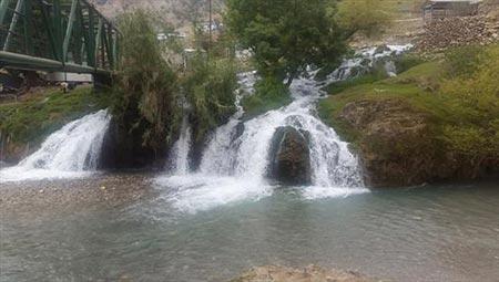 آبشارهای زیبای آرپناه با طبیعتی بهشت گونه در خوزستان+تصاویر