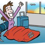 نکات کاربردی برای خوابیدن در فرودگاه که بهتر است بدانید+تصاویر