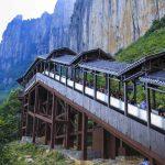 دیدن  مناظر زیبا از روی بلندترین پله برقی جهان در چین+تصاویر