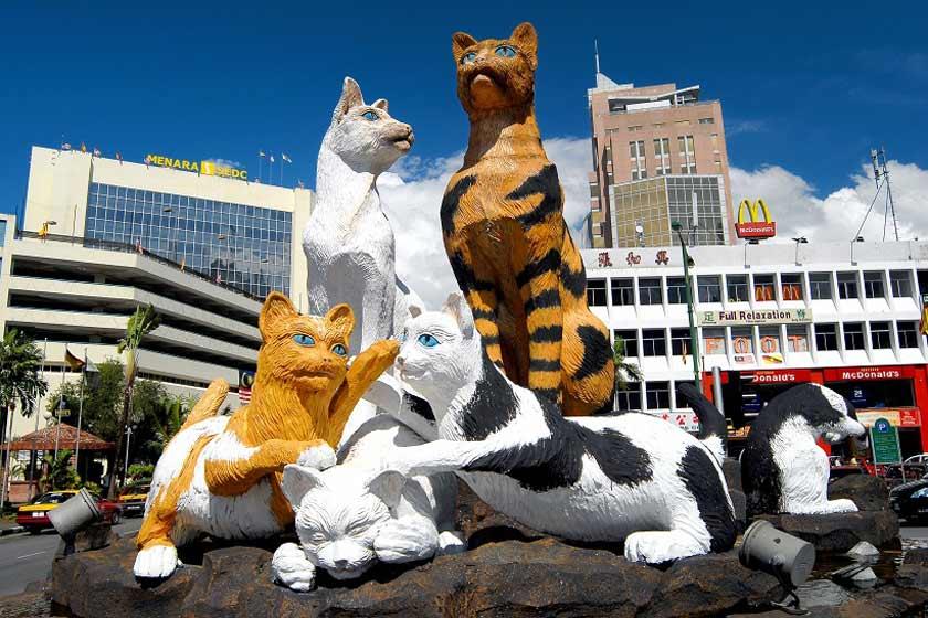 کوچینگ شهر گربه ها در ایالت ساراواک کشور مالزی