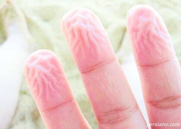 دلیل علمی چروک شدن انگشتان در حمام