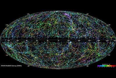 نقشه ای سه بعدی از تمام ساختارهای قابل رویت در جهان