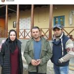 لیلا اوتادی و امین حیایی در پشت صحنه یک فیلم + عکس