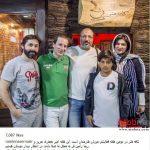 خانواده امیر جعفری در کافه هنر، مهمان رامین ناصر نصیر + عکس