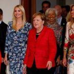 هو شدن ایوانکا ترامپ به خاطر مواضع ضد زن پدرش در حضور صدر اعظم آلمان + عکس
