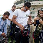 افتتاح زیپ لاین و پل معلق برج میلاد + تصاویر