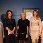 همسر نخستوزیر همجنسگرای لوکزامبورگ کنارهمسران سران ناتو