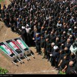 تشییع پیکر جانباختگان حادثه معدن آزادشهر + تصاویر
