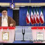 حضور مقام معظم رهبری پای صندوق رای