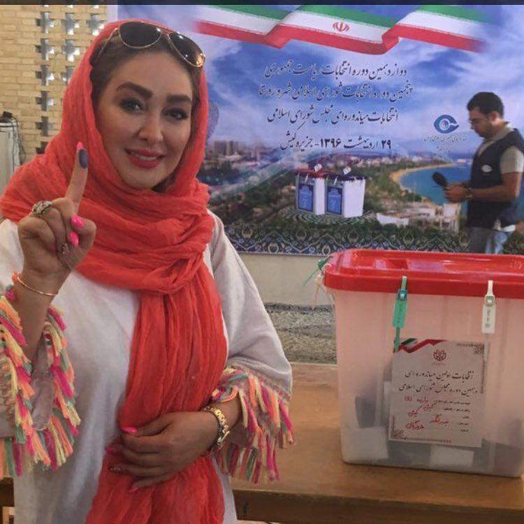 حضور بازیگران در انتخابات
