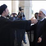 استقبال گرم سیدحسن خمینی از حسن روحانی!