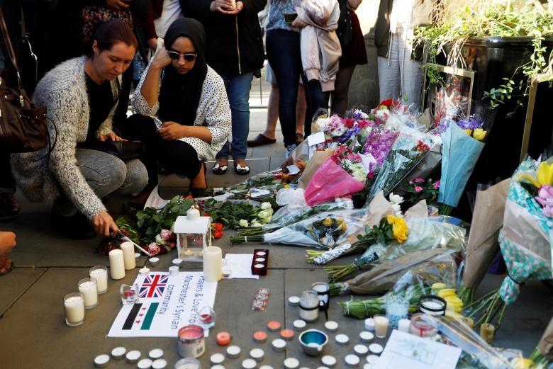 مراسم همدردی با قربانیان حادثه منچستر