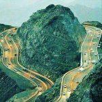 تصویری بینظیر از جاده لامرد به عسلویه