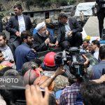 روحانی در محل حادثه معدن آزادشهر گلستان + تصاویر