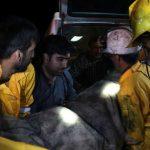 خروج پیکر هفت تن از محبوسین حادثه انفجار معدن آزادشهر!+ تصاویر