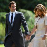 راجر فدرر و همسرش در مراسم ازدواج خاندان سلطنتی انگلیس