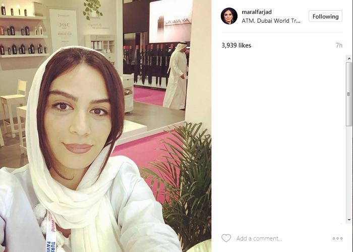 مارال فرجاد در دبی