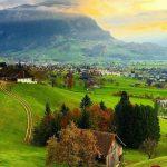 مناظر مخمل سبز سلسله جبال آلپ