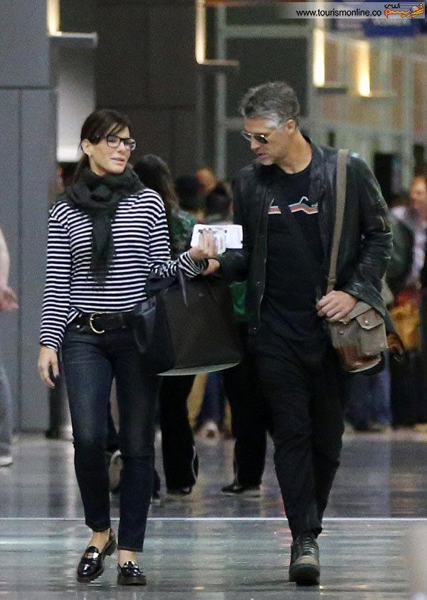ساندرا بولاک و همسرش,بازیگر مشهور هالیوود و همسرش
