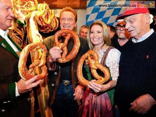آرنولد و نامزدش در سفر تفریحی به اتریش +تصاویر