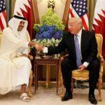 امیر قطر با دمپایی در حضور ترامپ !