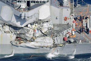 تصویر ۷ ملوان آمریکایی جان باخته در دریای ژاپن
