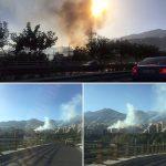 آتش سوزی گسترده در محله اوین تهران + فیلم