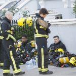 تلاش آتشنشانها برای خاموش کردن آتش مهیب برج گرانفل لندن!