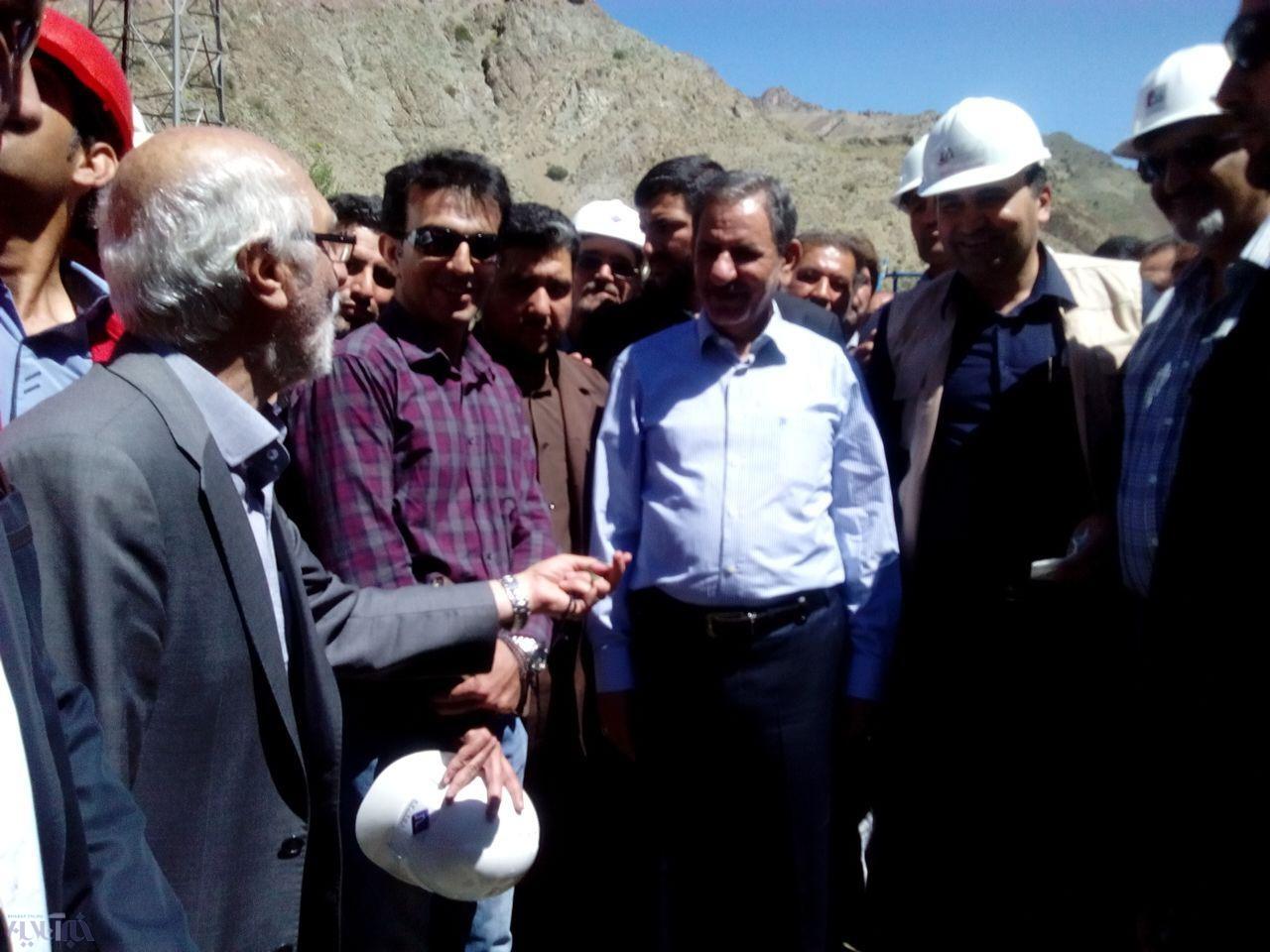 بازدید جهانگیری از آزادراه تهران شمال