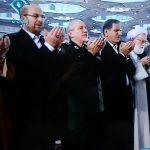 اسحاق جهانگیری و قالیباف در نماز عید فطر