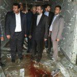 محسن رضایی از محل حادثه تروریستی در ساختمان مجلس بازدید کرد
