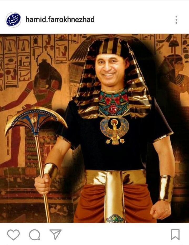حمید فرخ نژاد در نقش فرعون مصر