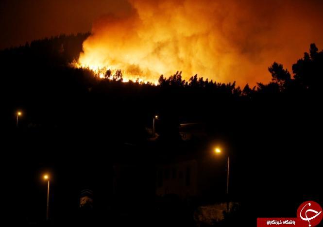 تصاویری از آتش سوزی گسترده در پرتغال با 25 نفر کشته!