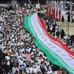 سید میثم خامنه ای , فرزند رهبر انقلاب در راهپیمایی روز قدس
