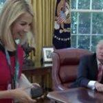 چشم چرانی ترامپ باز هم سوژه شد! + فیلم