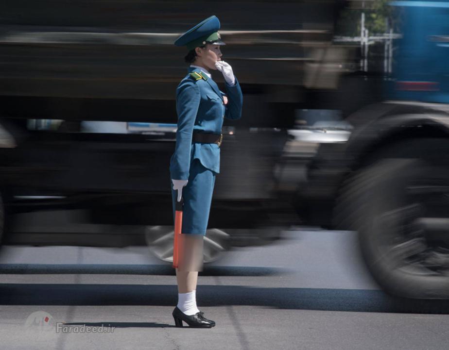 دختران ترافیک در کره شمالی