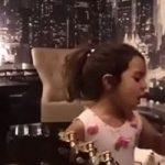 همخوانی رضا صادقی با دختر کوچکش تیارا+فیلم