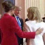 شوخی نامتعارف ترامپ با زن رئیس جمهور فرانسه! + فیلم