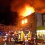 آتش سوزی در مرکز خرید توریستی لندن