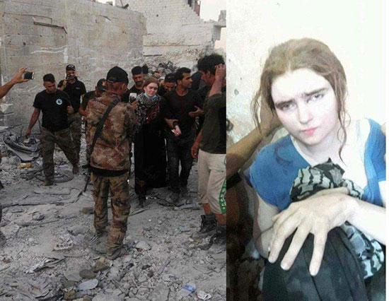 دستگیری زن تک تیرانداز داعشی