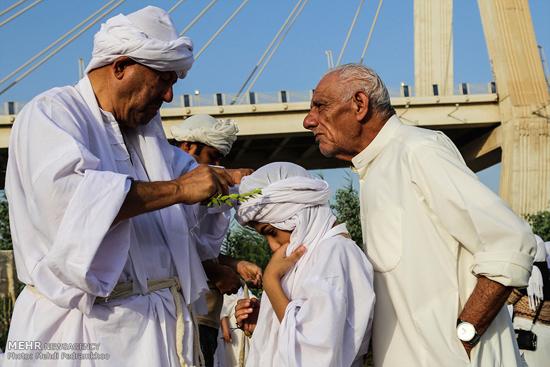مراسم تعمید صابئین در اهواز