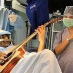 نواختن گیتار هنگام جراحی مغز!! + فیلم